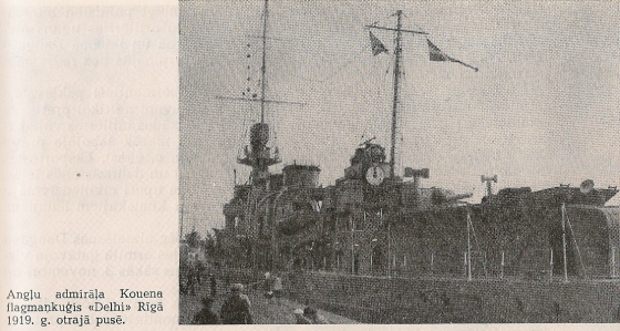 HMS DELHI D-type Light Cruiser, Рига, 1919г.