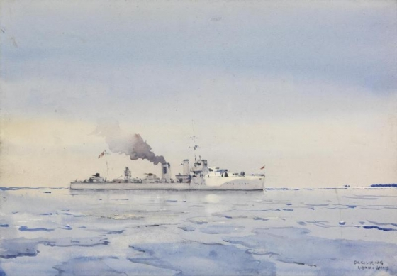 HMS Wolsey in the ice off Libau 1919 jan.(Imperial War Museum UK)