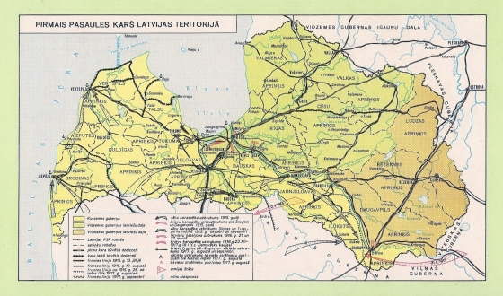 Pirmais Pasaules karš latvijas teritorijā