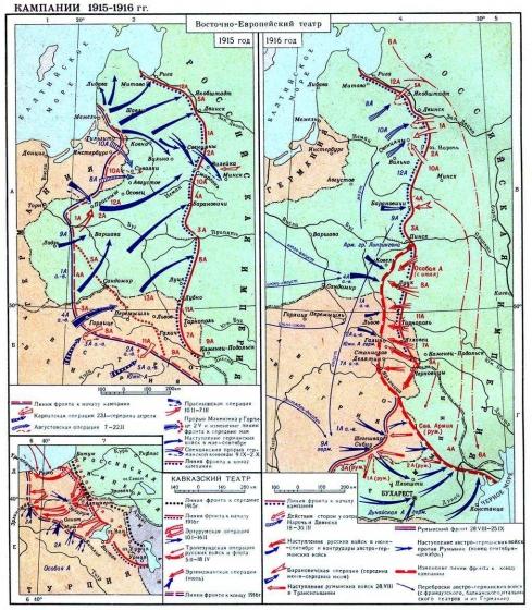 Первая мировая война. Кампания 1915-1916 годов.