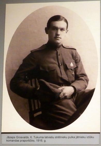 Язеп Гросвалдс, прапорщик - группа конной разведки 6-го Тукумского полка латышских стрелков, 1916г.