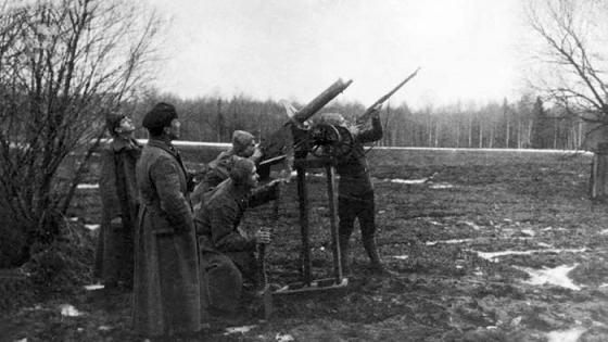 Красные латышские стрелки, зенитчики, февраль 1919 г.