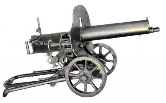 7,62-мм станковый пулемет Максима. Емкость ленты — 100, 200 или 250 патронов. Охлаждение ствола — водяное, жестяной короб охлаждения разных моделей вмещал от 5 до 10 литров воды. Темп стрельбы — 250—300 выстр./мин. Прицельная дальность — до 2700 м (с прицелом образца 1930 года). Начальная скорость пули — 800—865 м/с