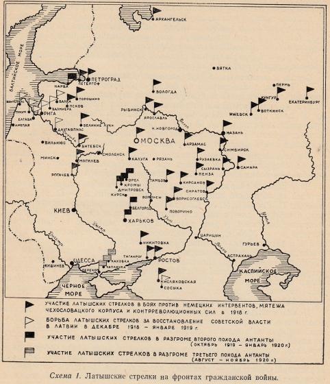 Схема - латышские стрелки на
