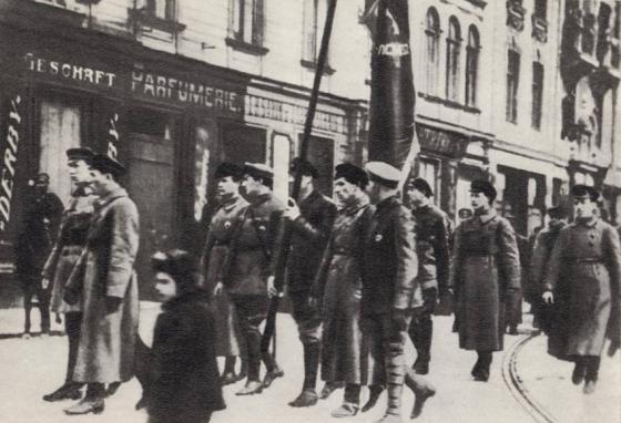 Вхождение латышских стрелков в Ригу. 4 января 1919 г.