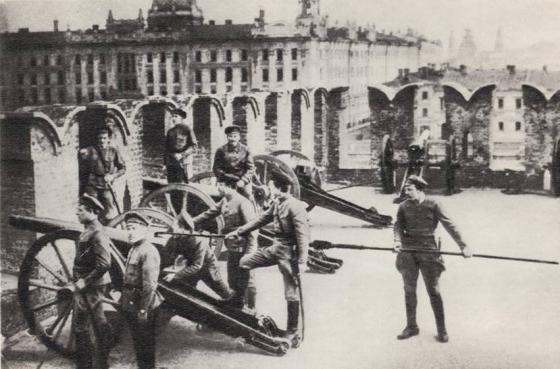 Латышские стрелки в Москве. 1918 г.