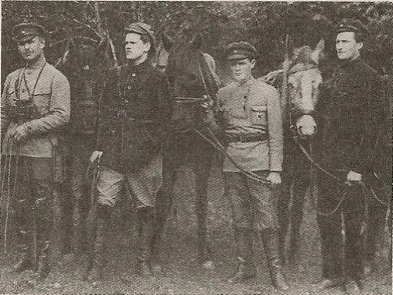 Штаб 1 бригады латстрелдив на Орловском фронте октябрь 1919