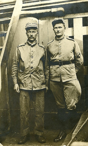 Imantas pulka karavīri ceļā uz mājām. 1920. gada pavasaris.