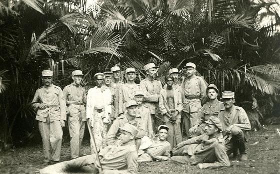 Imantas pulka karavīri ceļā uz mājām 1920 gada vasara