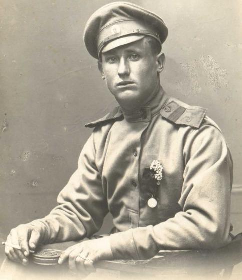Фото стрелка, 3-й Курземский латышский стрелковый полк