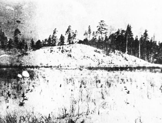 Ložmetējkalns - nocietināta kāpa Tīreļa purva malā., Lozmeteju_kalns_1917