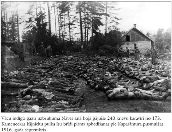 Жертвы немецкой газовой атаки, русские воины 173 Каменецкого пехотного полка, Остров Смерти, сентябрь 1916