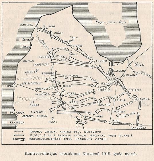 Kontrrevolūcijas uzbrukums Kurzemē 1919g.