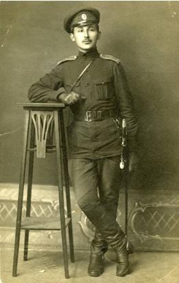Janis SNUKA – 1.Daugavgrivas latviesu strelnieku bataljona 3.rotas jaunakais virsnieks (Aijas GUSLENAS arhīvs)