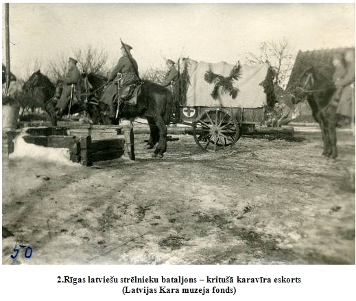 2.Rigas latviesu strelnieku bataljons – kritusa karavira eskorts