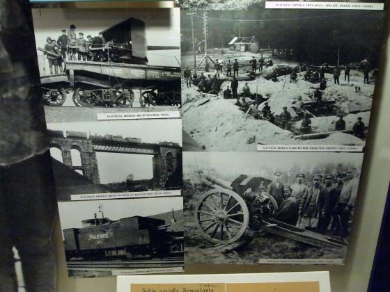 Эстонские бронепоезда, окопники и артиллеристы. 1919 год.