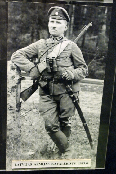 Кавалерист Латвийской армии, 1919 год.