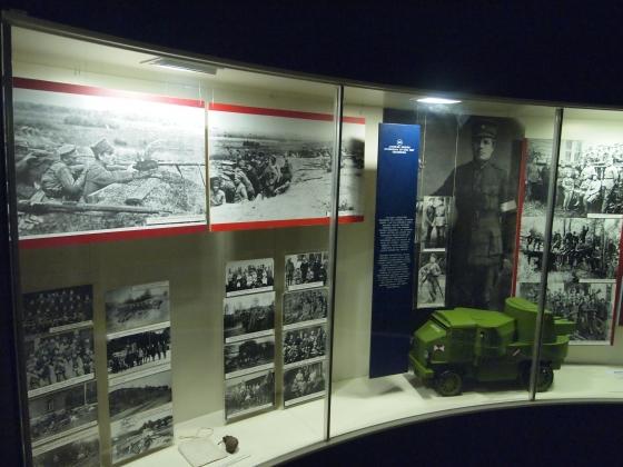 Экспозиция о гражданской в Латвии. (6)
