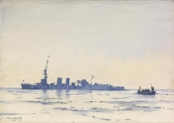 HMS Caledon in the Ice Off Libau 1919 jan. (Imperial War Museum UK)