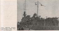 HMS DELHI D-type Light Cruiser, Rīga, 1919g.