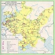Схема - латышские стрелки на фронтах гражданской войны 1918-1920.