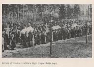 Проводы погибших стрелков на Братское кладбище в Риге.