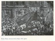 Первомайская демонстрация в Риге, 1919 год.