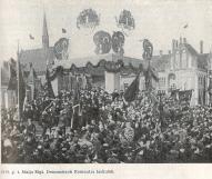 Первомайская демонстрация на площади Коммунаров в Риге, 1919 год.