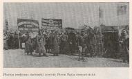 Плявиньские медработники на первомайской демонстрации.