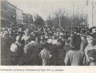 Демонстрация солдат и трудящихся в Риге весной 1917 года