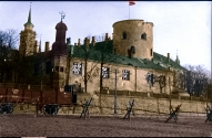 Рижский замок после обстрела бермонтовцами в ноябре 1919 г. (цвет - Влад Богов, 2014г.)