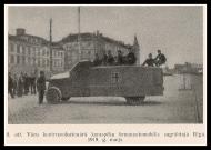 Немецкий трофейный броневик российского производства Пирс-Арроу «Titanic» на Берлинской улице.