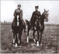 Генерал-майор М.П. Бермонт-Авалов и генерал-майор граф Рюдигер фон дер Гольц