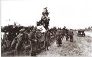 Части Западной добровольческой армии с боевым знаменем