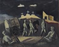 """Язепс Гросвалдс. """"Три креста (Белые кресты)"""" (1917 г.)"""