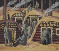 """Jāzeps Grosvalds (1891-1920). Darbs no cikla """"Latviešu strēlnieki""""."""