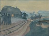 "Язепс Гросвалдс. ""Железная дорога"" (1916 г.)"