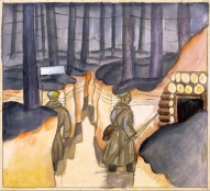 Jāzeps Grosvalds. Strēlnieki ierakumos. (1916)