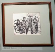 """""""Беженцы у мешков с вещами"""", 1915г."""