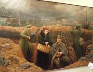 """""""Окопы у желехнодорожного моста"""", О.Грунде, 1934г."""