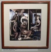 "Екабс Казакс, ""Беженцы в дилижансе"", 1918"