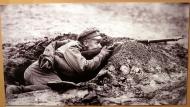 Латышский стрелок в ячейке, 1916 год.
