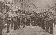 Strelnieki Maskavas Kremlii, 9-й лат.стрел.полк после подавления левоэсеровского мятежа 1918