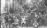 Латышские стрелки, прибывшие в распоряжение ВРК 12-й армии, 27 октября (ноября) 1917. Фото. 1917