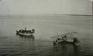 Ventspils I pasaules kara laikā. Vācu hidroplāns uz ūdens