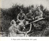 2. Rīgas pulka ložmetējnieki 1917.g