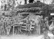 3. Kurzemes bataljona latviešu strēlnieki 1916. gadā.