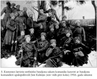 3. Kurzemes latviesu strelnieku bataljona sakaru komandas karaviri ar bataljona