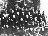 7. strēlnieku pulka 7. rotas šūniņas biedri Rīgas frontē 1917. g. 27. maijā.