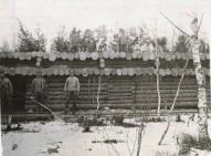 Olaine. Vācu karavīri būvē blindāžu 1916.- 1917.gada ziema-.jpg